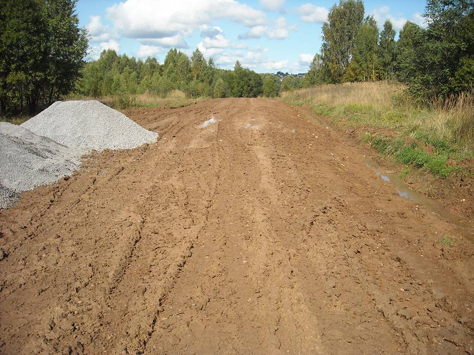 Dirtglue road and pathway construction
