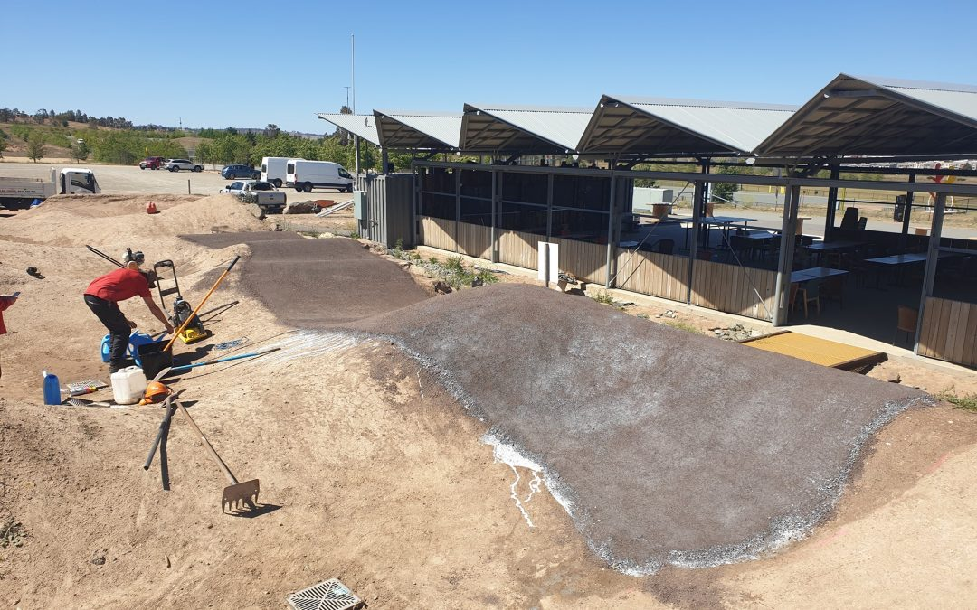 Makin Trax + Three Chillies Design, DirtGlue Industrial & PolyPave Pump Track in Mount Stromlo Canberra