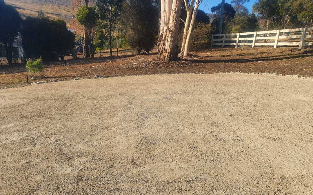 DirtGlue Industrial Driveway by Specialised Landscaping Services in Tasmania